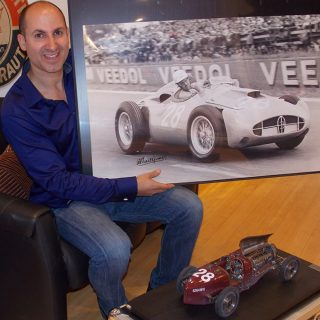 Driver Signed Print of Bugatti's Final Disaster