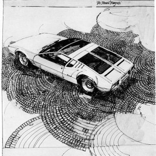 """Barron Storey Went to Bat for His """"Car and Driver"""" Artwork"""