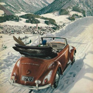 Not Even a Foot of Snow Can Hide the Beetle's Iconic Shape