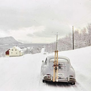 Going Skiing? Take A Classic Porsche 356