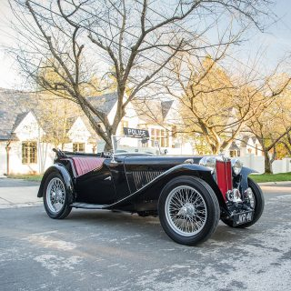 An MG TC Is A Police Car Fit For Captain Slow