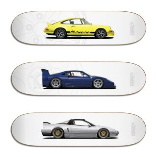 These Stunning Car-Themed Skateboards Are Too Nice To Ride