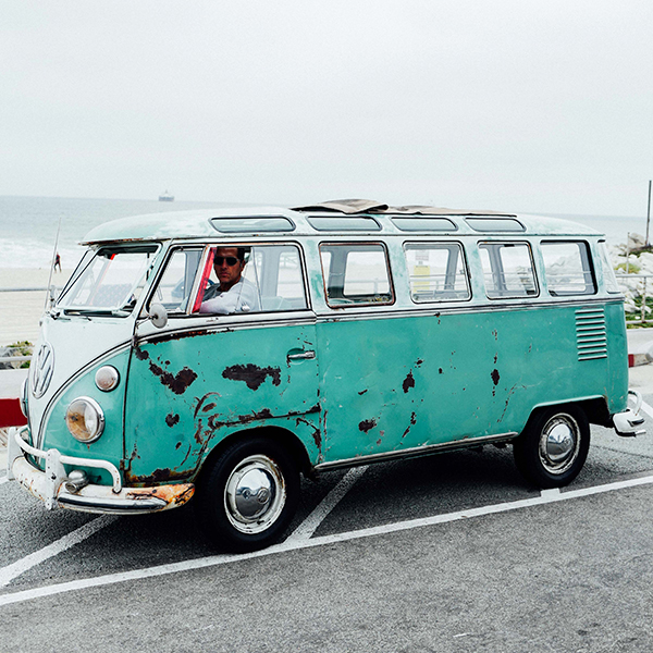 This 23 window vw bus is a perfectly preserved time for 14 window vw bus