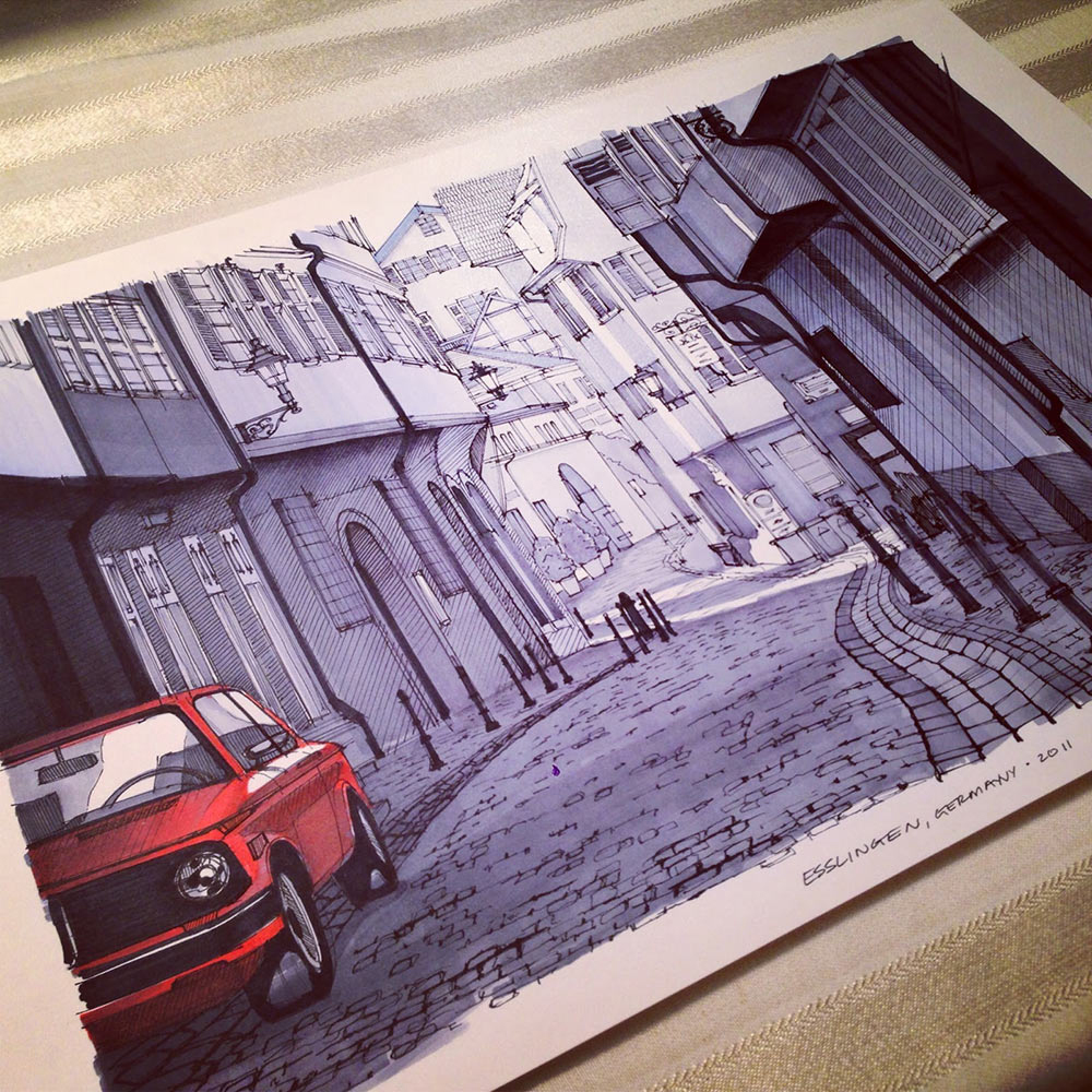 BMW 2002 on the Streets of Germany