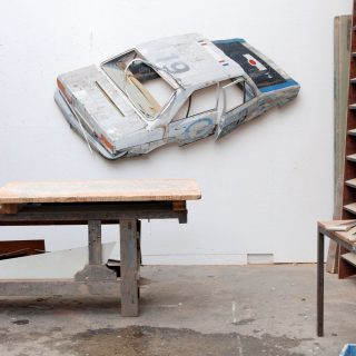 Automotive Relief Sculptures Project Beyond the Wall