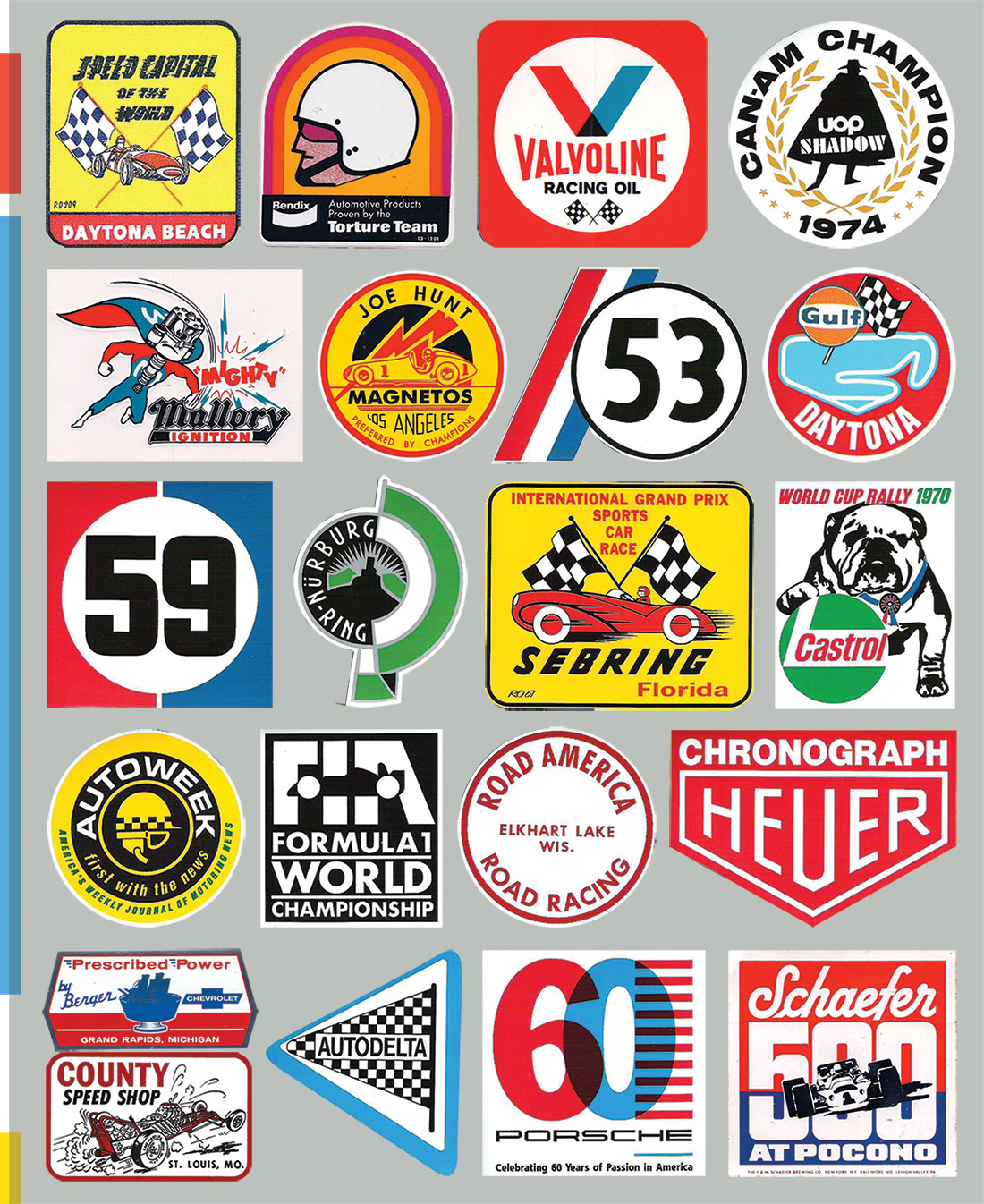 Harris Decals  Race Car Numbers  Layered and Printed