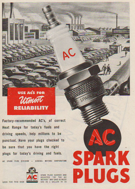 Classic Ac Spark Plug Ads Ignite In Color Petrolicious