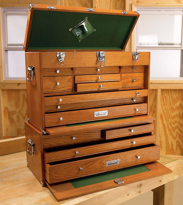 Wood Tool Chest ~ Keep your easy to lose garage gear in a cool wooden tool