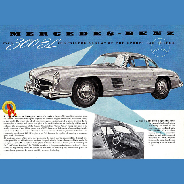 300SL Brochures Sold Glamour to The Rich and Famous