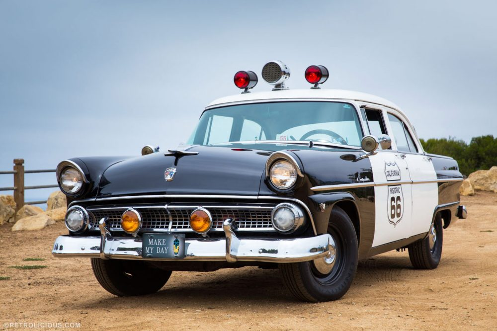 Thereu0027s an inexplicable charm to the big American cars of the u002750s. The warmth of American optimism in those years seems to resonate through automobile ... & Grab a Dozen Donuts in this Original u002755 Ford Police Car ... markmcfarlin.com