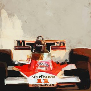 Motorsports Artist Brings the Thrill of the Track to Canvas