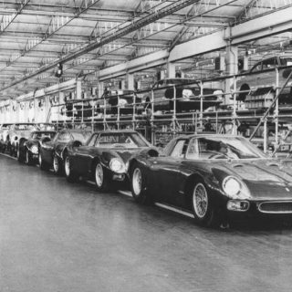 Black-and-White Ferrari Factory Evokes the Spirit of Enzo