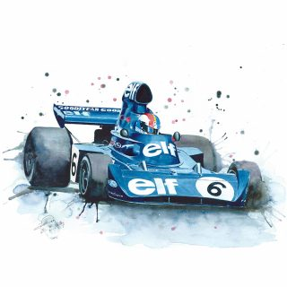 Motorsport in Watercolor Sets the Scene