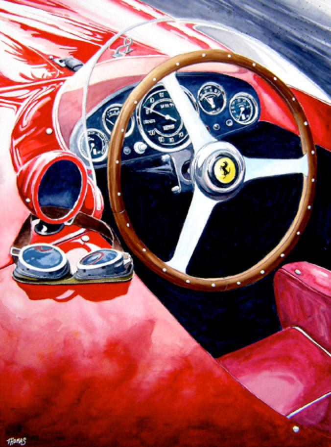 Automotive Artist Brings Ferrari And Delorean Paintings To