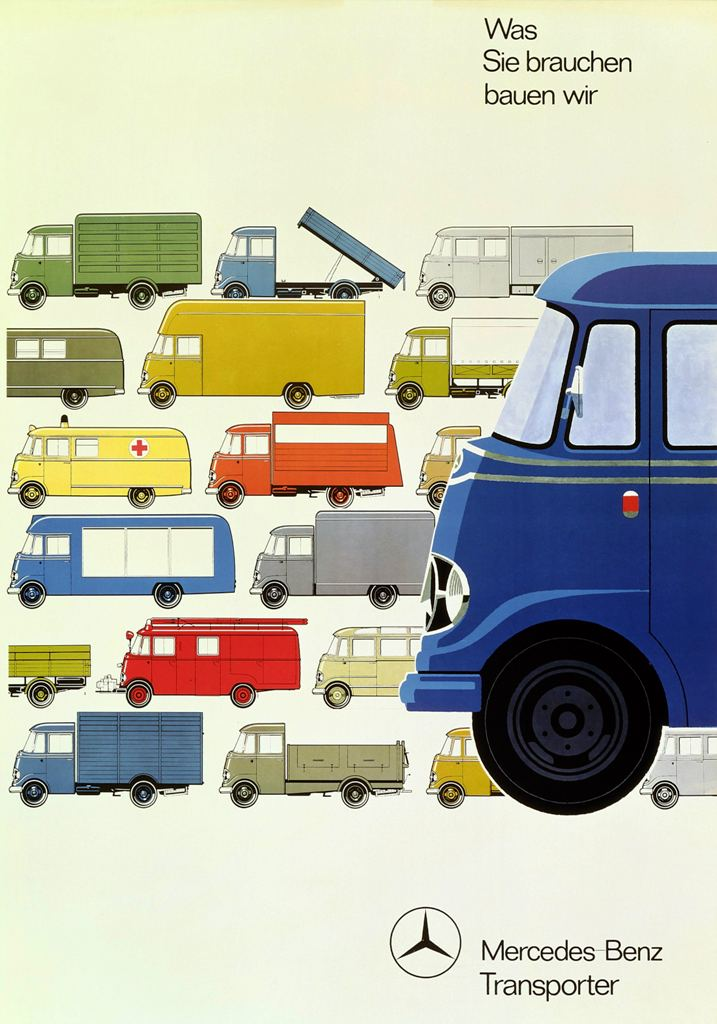 Cool Illustrations Advertised The Robust Mercedes Transporter Petrolicious