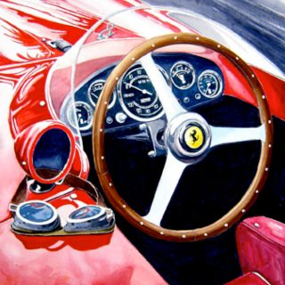 Automotive Artist Brings Ferrari and DeLorean Paintings to Life