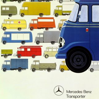 Cool Illustrations Advertised the Robust Mercedes Transporter