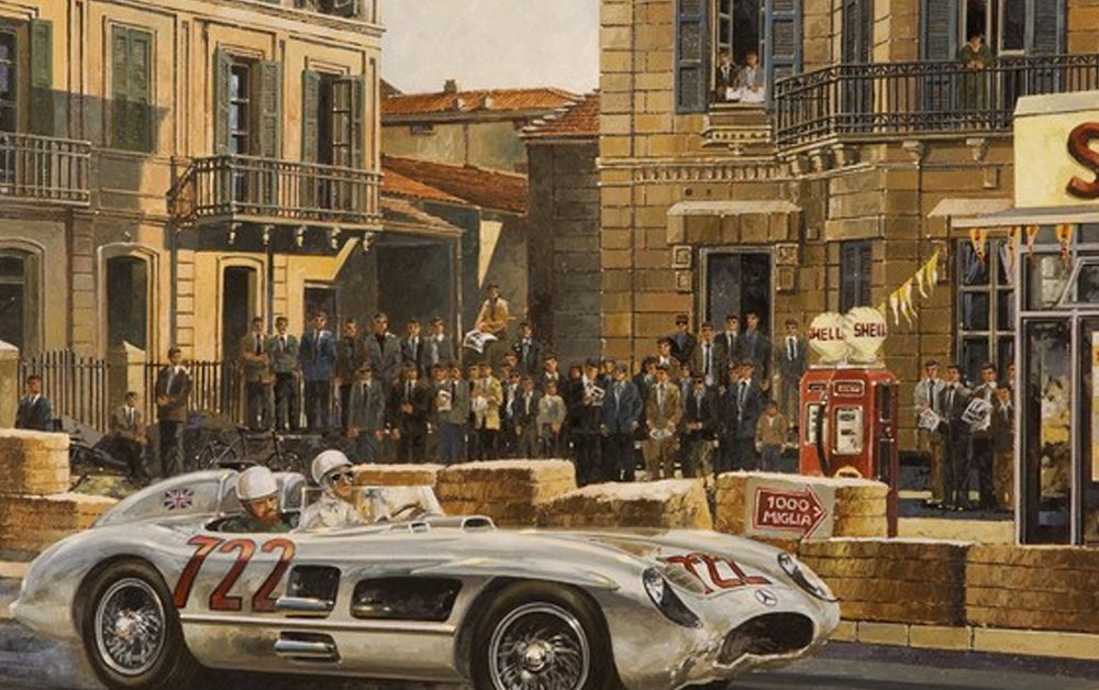 Artist Michael Mate Paints the Glory Days of Road Racing