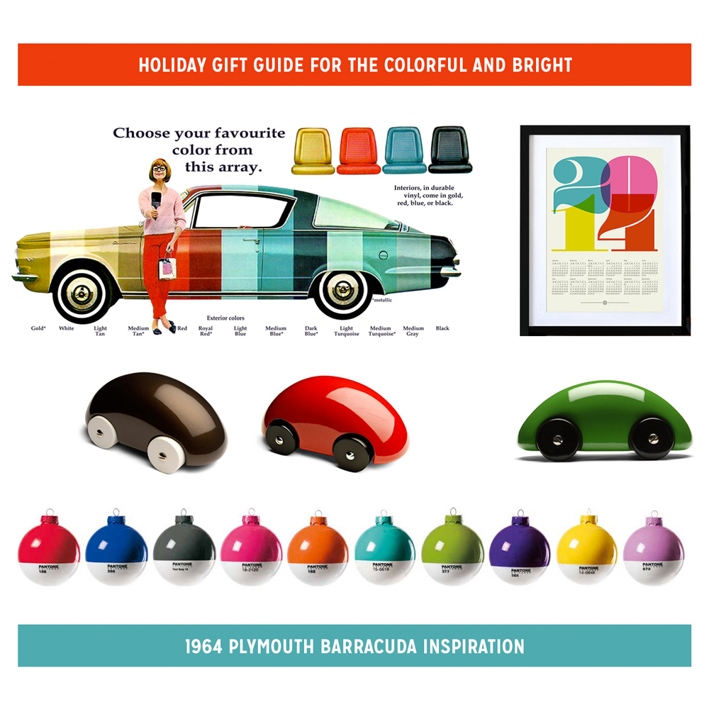 Holiday Gift Idea: Colorful Plymouth Barracuda Inspiration