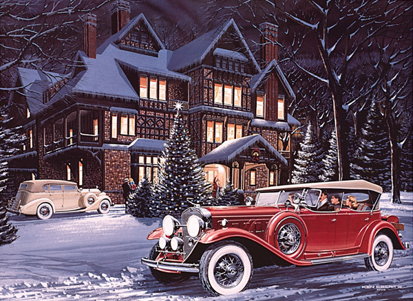 Tags Automotive Designer Christmas Ford Holiday Scenes Ken Eberts Painter Vintage Automobiles Join The Conversation