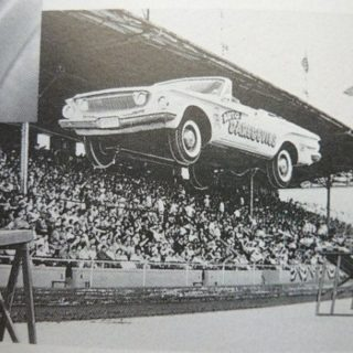 Stunt Drivers Perform at 1964 World's Fair