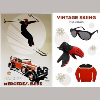 Driving Style Inspiration: Vintage Skiing