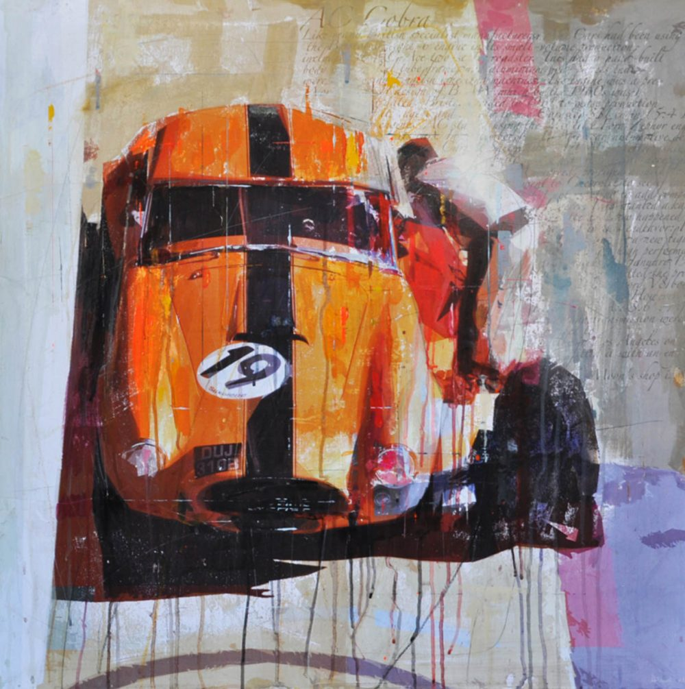 Q: How did your passion for painting and vintage cars begin?