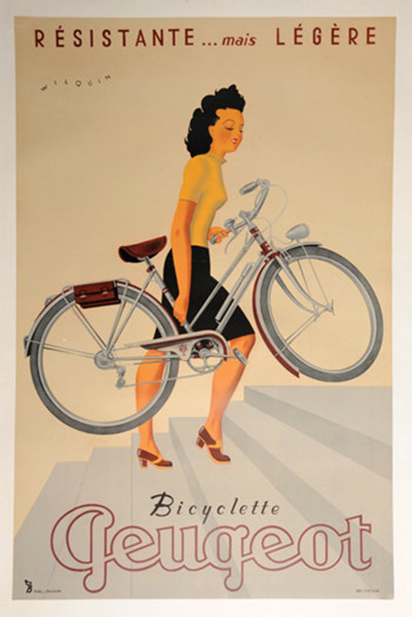 Vintage Bicycle Posters Foreshadow Car Ads