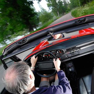 Porsche Convertible and Owner Happier to Cruise Than Race