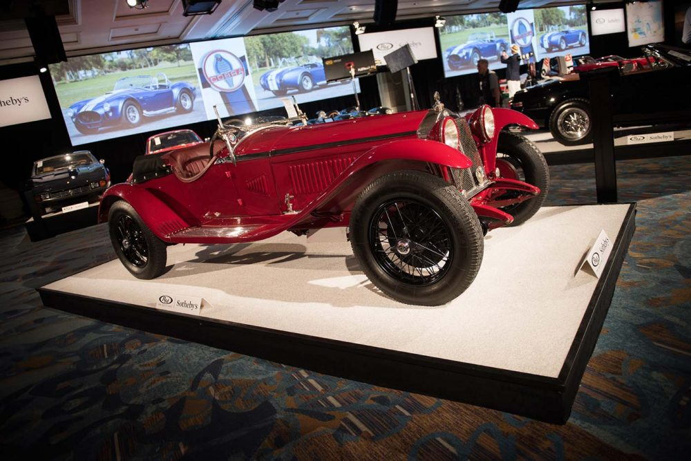 What kinds of cars are typically sold at RM Sotheby's classic car auctions?