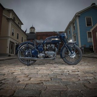 A Triumph Thunderbird Bluebird Brought Back from the Dead