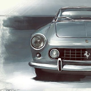 Fall into Tad Orlowski's Lush Paintings of Classic Cars