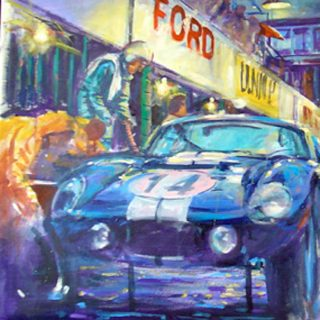 Iconic Racing Scenes Come Alive in Art by Andrew Mcgeachy