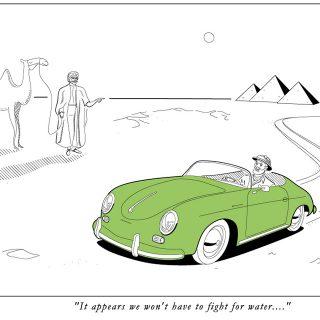 These Automotive Illustrations Are Comical and Classical