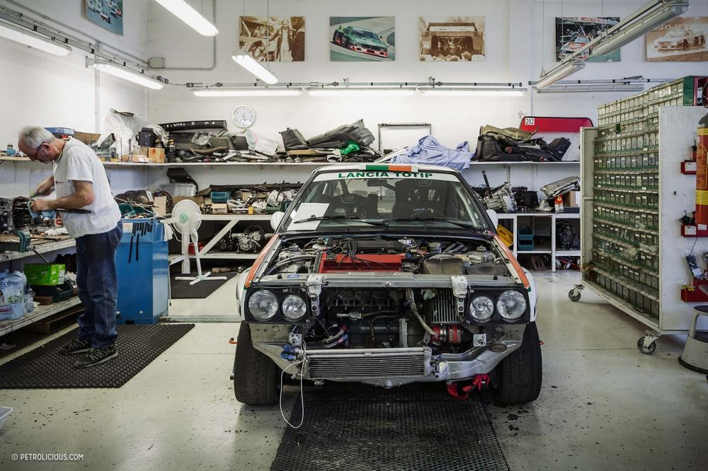This Heavenly Garage Only Works On Lancia Rally Cars • Petrolicious