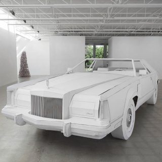 Somebody Recreated A Lincoln Continental Entirely In Cardboard, And It's Amazing