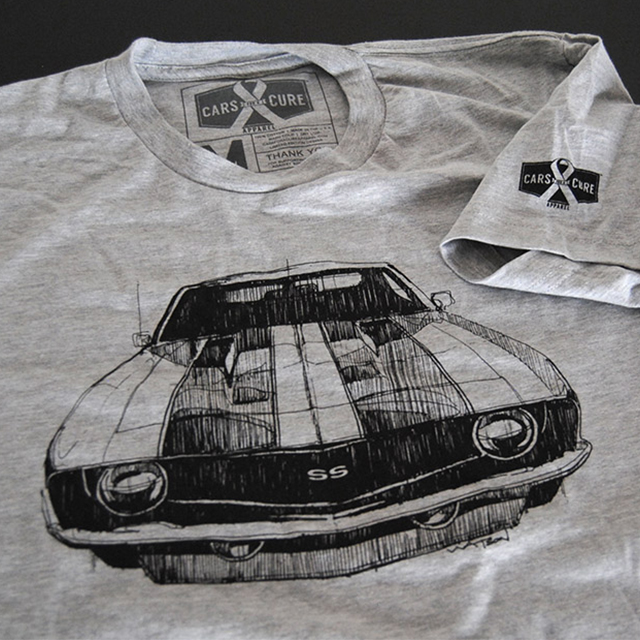 Battling Cancer, One Car Shirt At A Time