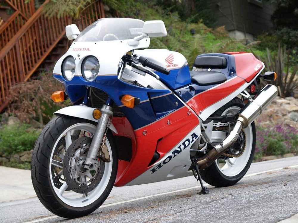 Honda Had Long Been Using Red White And Blue Continued To Adapt The Design Work On Other Road Going Race Bikes After RC30 Was Replaced