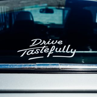 """Drive Tastefully"" Vinyl Decals Are Now In The Petrolicious Shop"