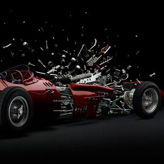 This Artist Exploded Your Favorite Racing Legends So That You Don't Have To