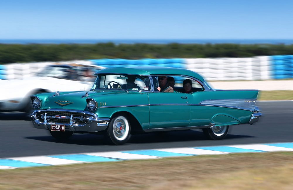 This 1957 Chevrolet Bel Air Now Steers From The Other Side