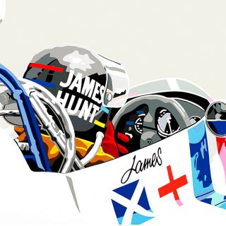 Limited Edition James Hunt Artwork Now In The Petrolicious Shop