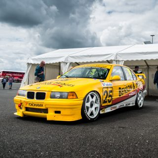 This BMW 318iS Touring Car Led Its Pack At Silverstone Classic