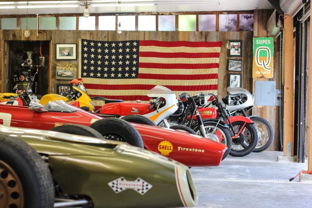 This Ridiculously Perfect Vintage Racing Garage Thankfully Also ...