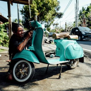 Visiting Saprol Vespa Repair In Bali, Indonesia