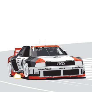 This Iconic Audi 90 GTO IMSA Race Car Print Is Now Available In The Petrolicious Shop