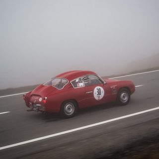 This Is What It's Like To Drive A Vintage Fiat-Abarth Up A Foggy Mountain