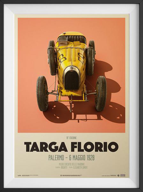 bugatti targa florio 1928 poster petrolicious shop. Black Bedroom Furniture Sets. Home Design Ideas