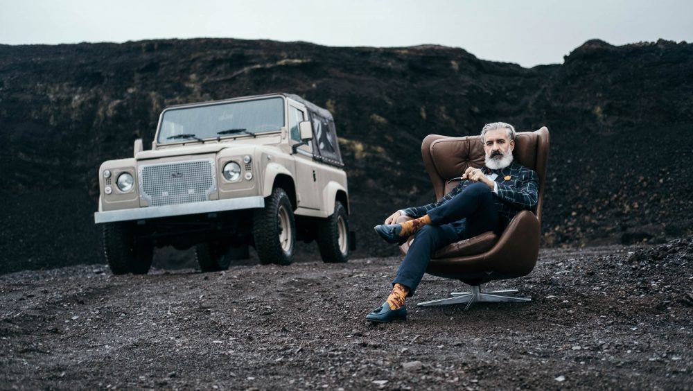 The Cool Vintage Land Rover Defender Heritage Edition