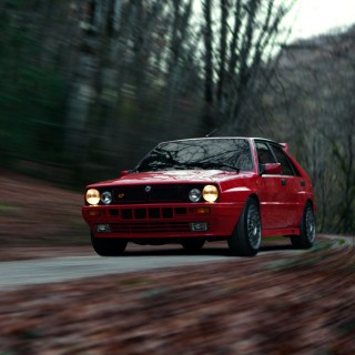 This Lancia Delta Integrale Can Be Seen Climbing The Northern Mountain Roads Of Spain